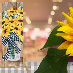 Buffalo Check Sunflowers