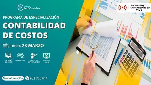 Especialización en Contabilidad de Costos, 23 March   Event in Lima   AllEvents.in