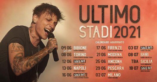 Ultimo in concerto a Bari   8 luglio 2021, Stadio San Nicola