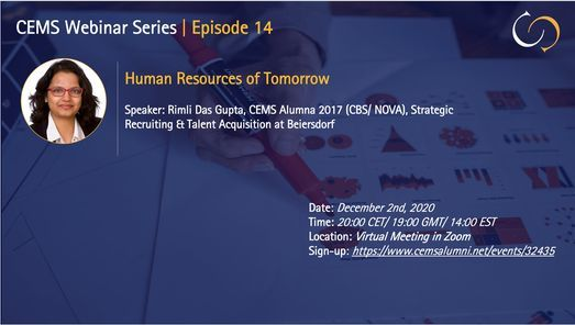 CEMS Webinar Series. Episode 14 | HR of tomorrow, 2 December | Online Event | AllEvents.in