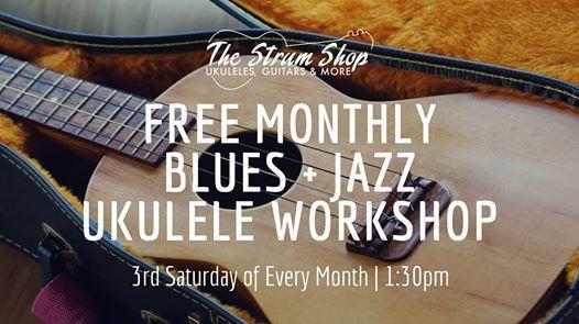 Carlas Free Monthly Blues  Jazz Ukulele Workshop