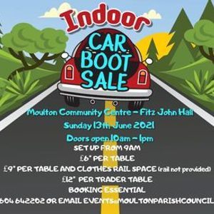 Indoor Car Boot Sale  - 13th June 2021