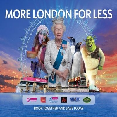 Merlins Magical London 5 Attractions In 1  The Lastminute.com London Eye  London Dungeon  Shreks Adventure  Sea Life  Madame Tussauds