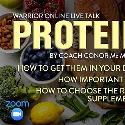 Warrior Online LIVE Talk  PROTEIN