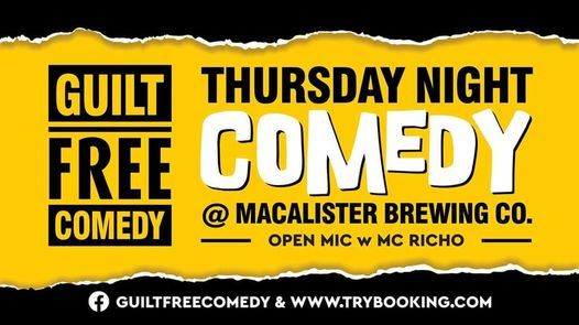 Macalisters Thursday Night Comedy, 8 July | Event in Smithfield | AllEvents.in