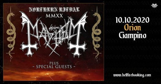 Mayhem + Guests | Orion, Ciampino (RM), 19 March | Event in Rome | AllEvents.in