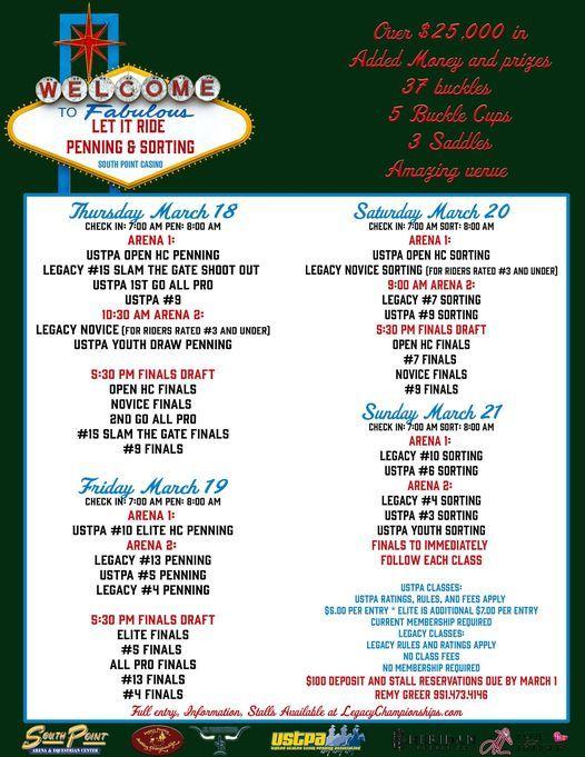 Let It Ride Pen Sort South Point Hotel Casino Spa Las Vegas March 18 2021 Allevents In