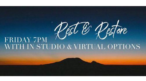 Rest & Restore (In Studio & Virtual), 23 July | Online Event | AllEvents.in