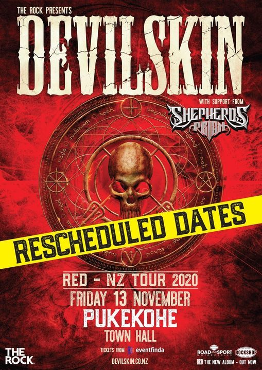 Devilskin - RED - NZ Tour 2020, 13 November | Event in Pukekohe East | AllEvents.in