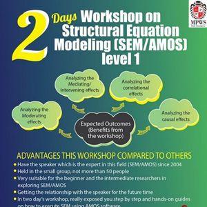 TWO DAYS Workshop on Structural Equation Modeling Level 1
