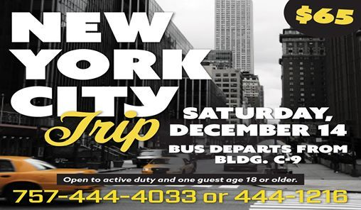 New York City Bus Trip (Sold Out)