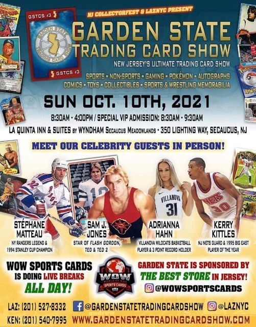 Garden State Trading Card Show, 10 October | Event in Secaucus | AllEvents.in