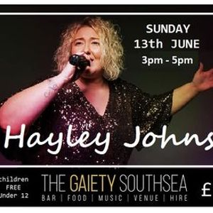 HAYLEY JOHNS LIVE at The Gaiety Southsea on South Parade Pier