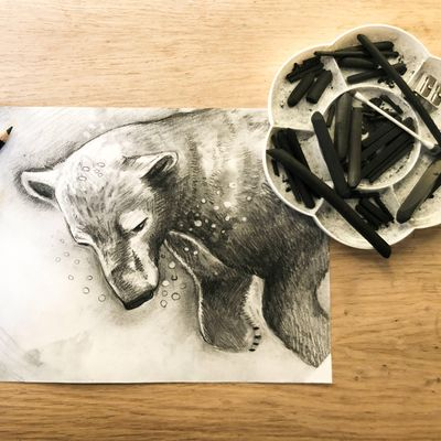 Mindful Charcoal Drawing Class art class
