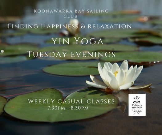 Finding Happiness & Relaxation - 5 Tuesday Evenings Yin Yoga Casual Classes   Event in Shellharbour City Centre