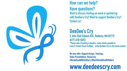 DeeDee's Cry BIPOC Mental Health Awareness Month Celebration, 3 July | Event in Readville | AllEvents.in