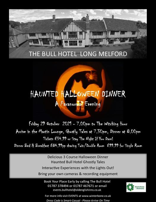 Haunted Halloween Dinner - A Paranormal Evening, 29 October | Event in Bury St Edmunds | AllEvents.in