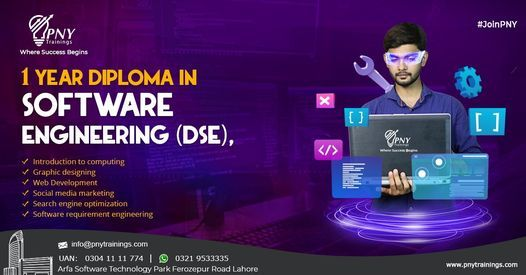1 year Diploma in Software Engineering (DSE), 1 November | Event in Lahore | AllEvents.in