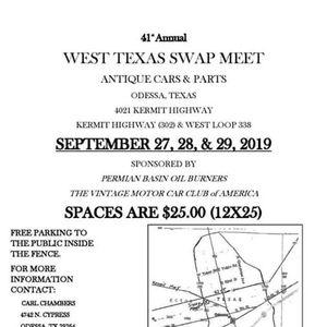 41st Annual West Texas Swap Meet at McAfee Machine Inc , Odessa