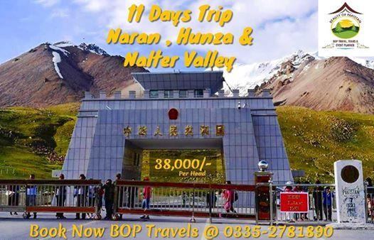 11 Days Trip to Naran Hunza Naltar and Khunjrab Pass