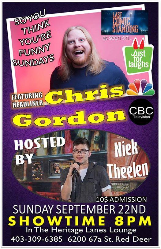 Featuring Headliner Chris Gordon