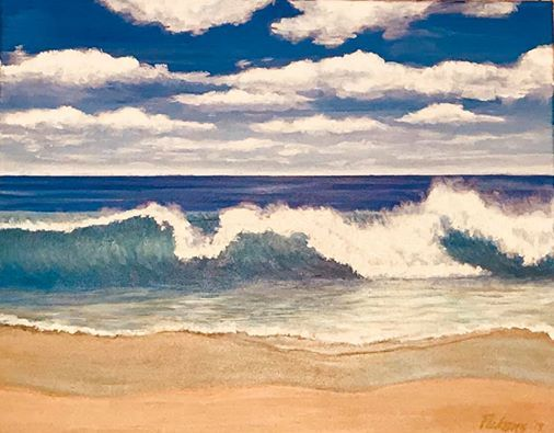 Funky Friday Oceanscape Painting - Perfect for Gift Giving