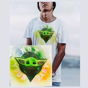 Digital] Artwear The Baby Yoda T-Shirt Painting Class
