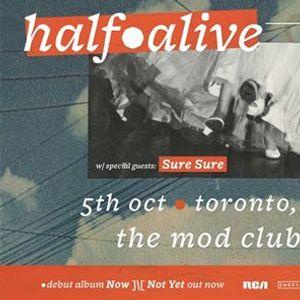 HalfAlive at The Mod Club  Oct 5