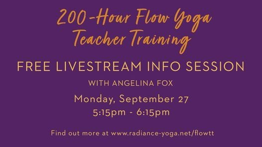 Flow Yoga Teacher Training: Free Info Session, 27 September   Event in Hybla Valley   AllEvents.in