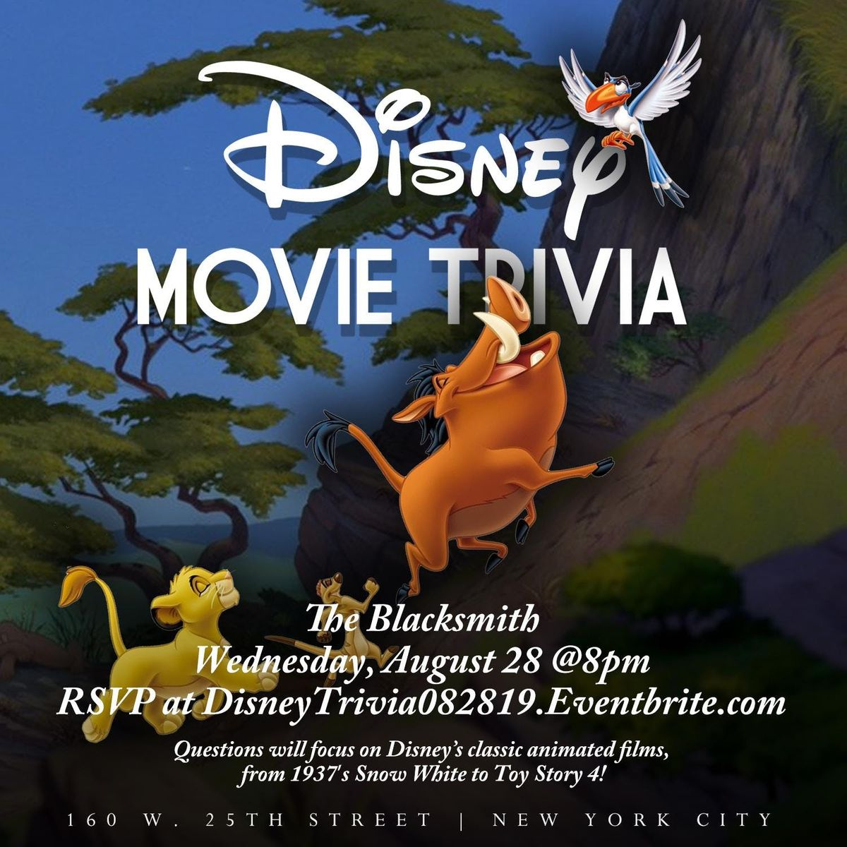 Disney (Movie) Trivia at The Blacksmith Bar and Kitchen, New