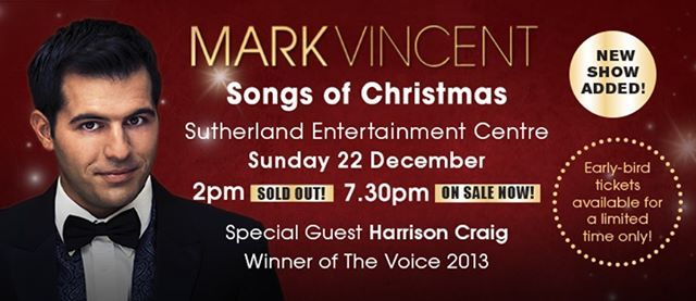 Mark Vincent - Song of Christmas - New Show Added
