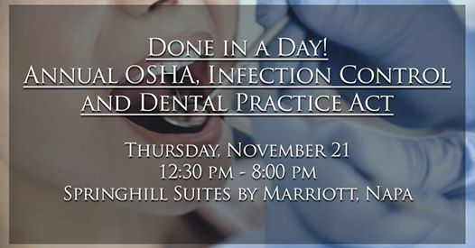 Annual OSHA, Infection Control And Dental Practice Act At