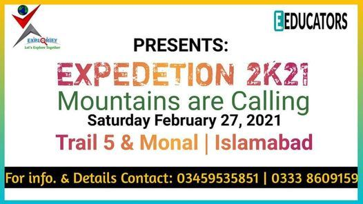 EXPEDITION 2K21, 13 March | Event in Islamabad | AllEvents.in