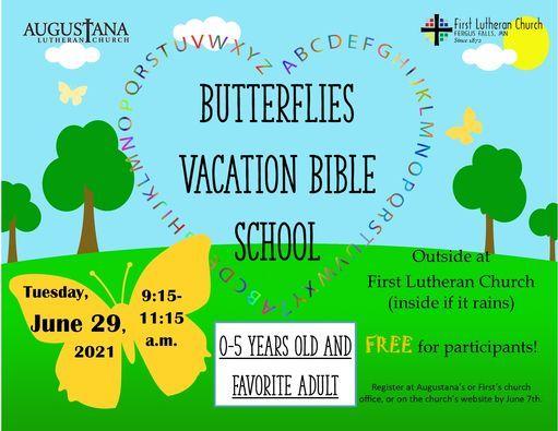 Butterflies VBS, 29 June   Event in Fergus Falls   AllEvents.in