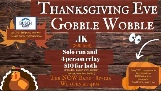 Gobble Wobble~ Thanksgiving EVE, 25 November | Event in Brookfield | AllEvents.in