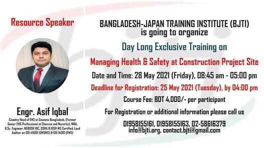 Managing Health & Safety at Construction Project Site, 28 May | Event in Dhaka | AllEvents.in