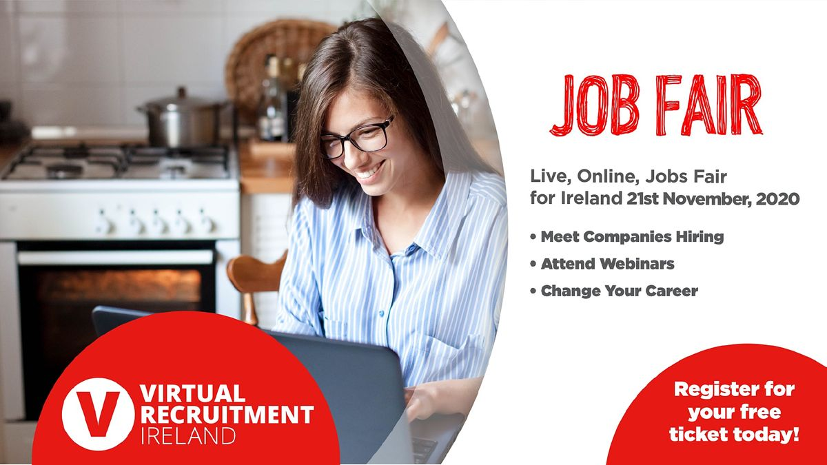 Virtual Recruitment Ireland - Online Jobs Fair (Sat, 21st Nov, 2020), 21 November   Online Event   AllEvents.in