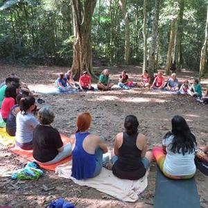 Yoga na Lagoa Rodrigo de Freitas  Trilha do Mirante do Sacop