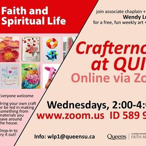 Crafternoons at QUIC - Online via Zoom
