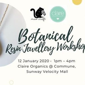 Botanical Resin Jewellery Workshop