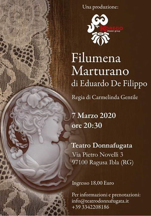 Filumena Marturano di E. de Filippo regia Carmelinda Gentile