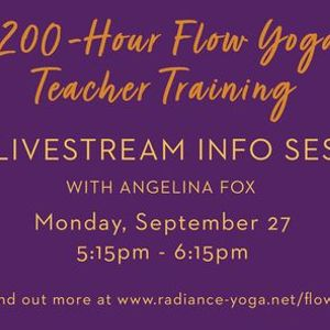 Flow Yoga Teacher Training Free Info Session