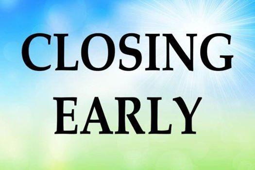 Closing at 3pm due to APS Parade
