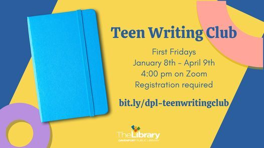 Teen Writing Club, 5 March | Event in Davenport | AllEvents.in