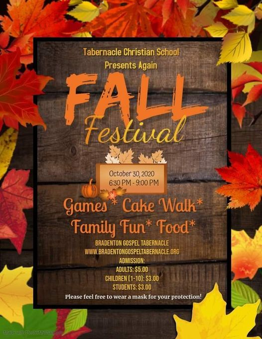 Tabernacle Christian School Brings Back the Fall Festival, 30 October | Event in Bradenton | AllEvents.in