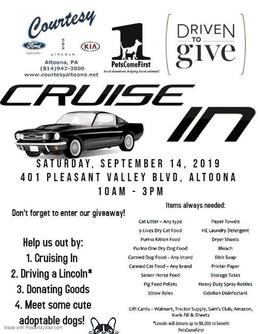 Courtesy Ford Altoona >> Cruise In At Courtesy Ford Altoona