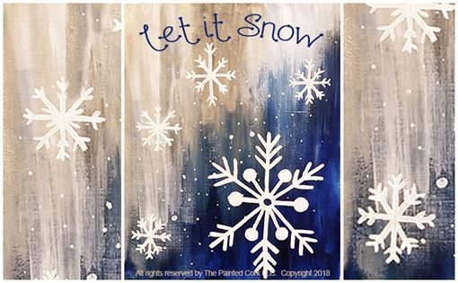 Paint and Sip Let it Snow