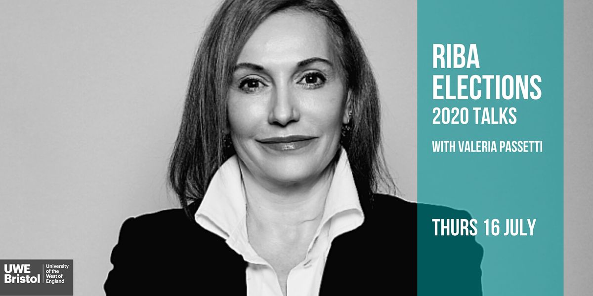 RIBA Elections 2020 Talks with Valeria Passetti