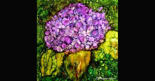 Learn to Paint a Hydrangea in Alcohol Ink with Debbie Grogen | Event in Summerville | AllEvents.in