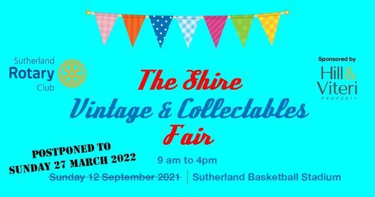 Shire Vintage and Collectables Fair, 27 March   Event in Sutherland   AllEvents.in